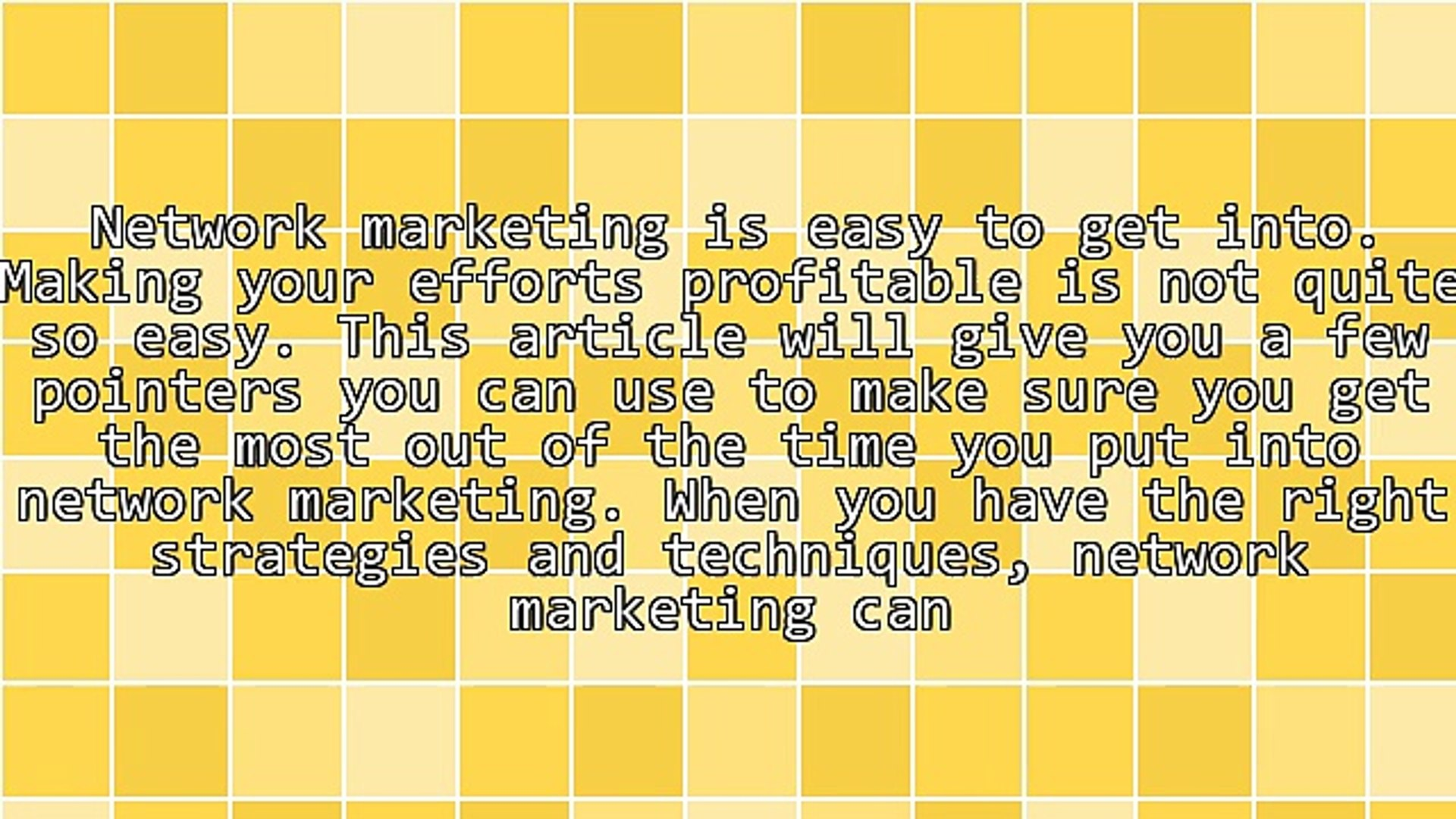 Tips You Can't Miss For Successful Network Marketing