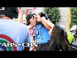 MMDA enforcer hinataw ng helmet ng motorista
