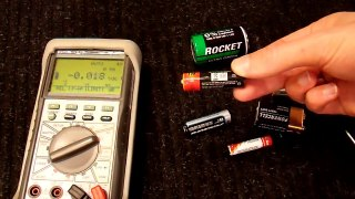 How To Test Standard AA AAA D C and 9V Batteries with a Mult