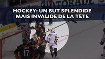 Marquer de la tête au hockey sur glace, c'est possible, mais c'est interdit