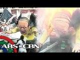 Ilang Yolanda survivors, sinunog ang effigy ni PNoy