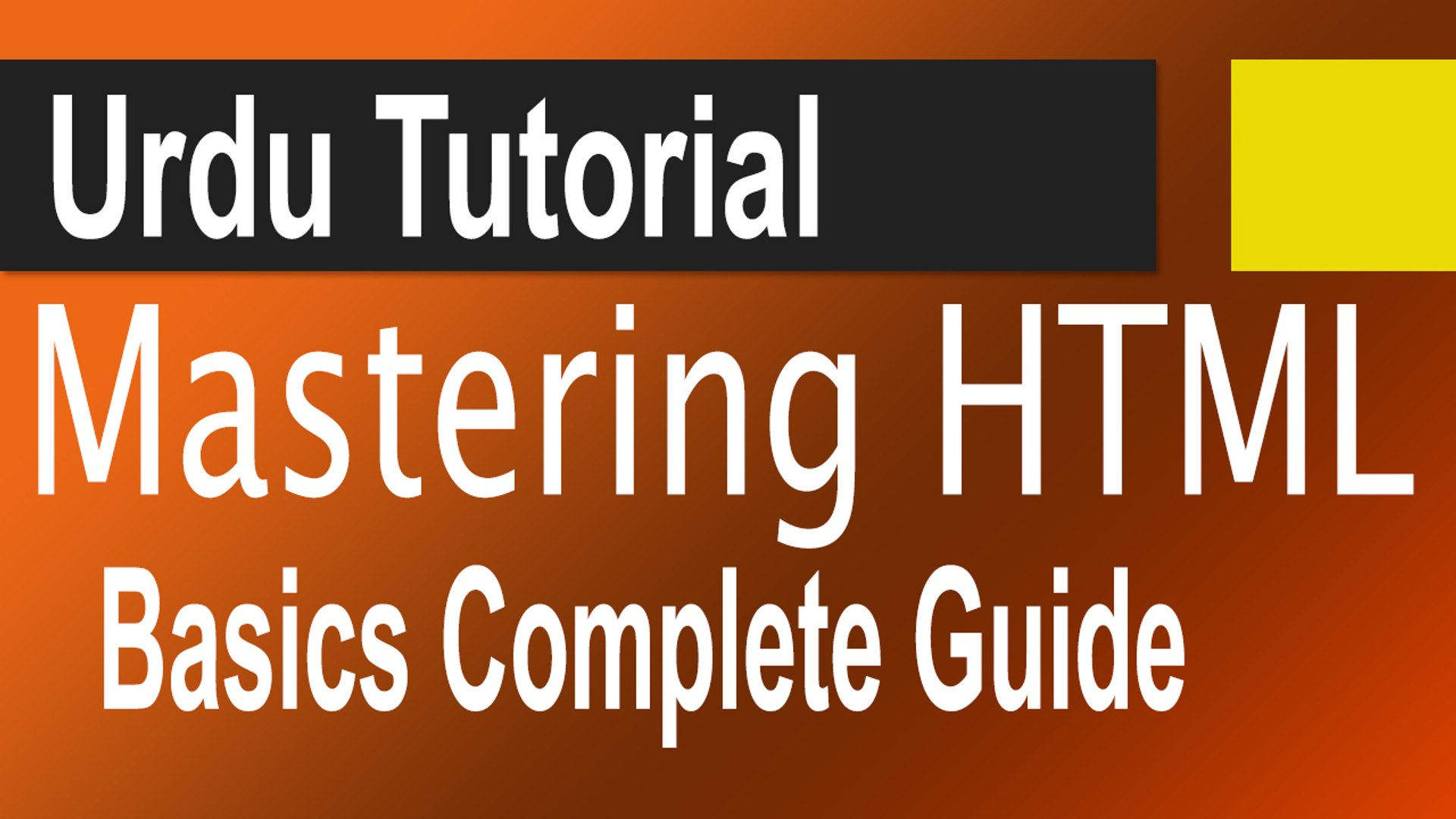 Mastering HTML Basics in Urdu Complete Guide for Beginners - video  dailymotion