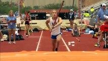 Saut à la perche : Charlotte Brown (17ans), aveugle, saute 3m50 et remporte une médaille dans une compétition