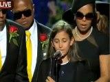 Homenaje a Michael Jackson: Paris Jackson [Hija] Le Dice Adios a su Padre Michael Jackson