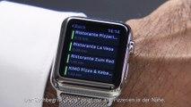 Mercedes-Benz Demonstration der Mercedes-Benz Tür-zu-Tür-Navigation mit der Apple Watch