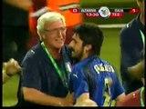 Gol de Italia contra Alemania en la semifinal del Mundial 06