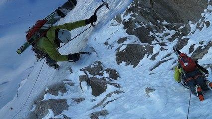 Face Nord des Droites Cornuau Davaille Boivin Gabarrou Chamonix Mont-Blanc alpnisme