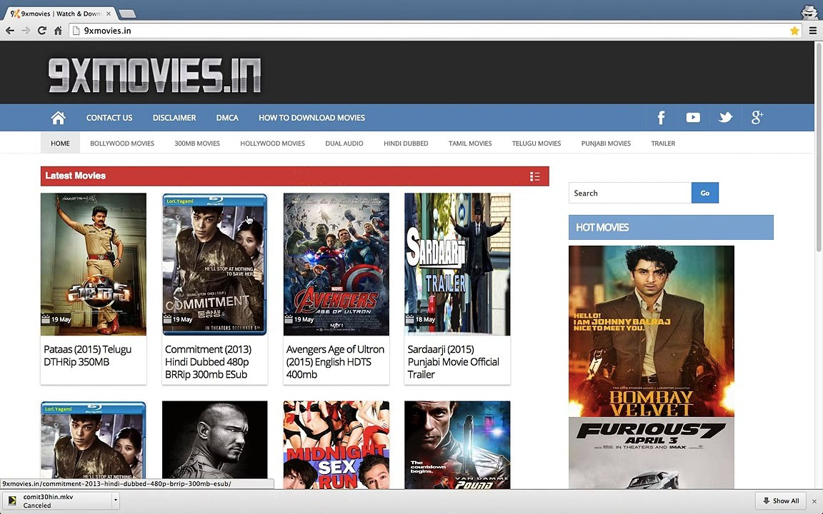 How to Download HD Movies, Hindi Dubbed, Dual Audio Movies