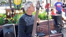 Bob Culbertson playing the Chapman Stick, San Francisco, California