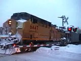 Watching Trains in the Snow in Steamboat Springs, Colorado