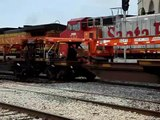 2 Train Meet! 2 BNSF Intermodals, Joliet IL.