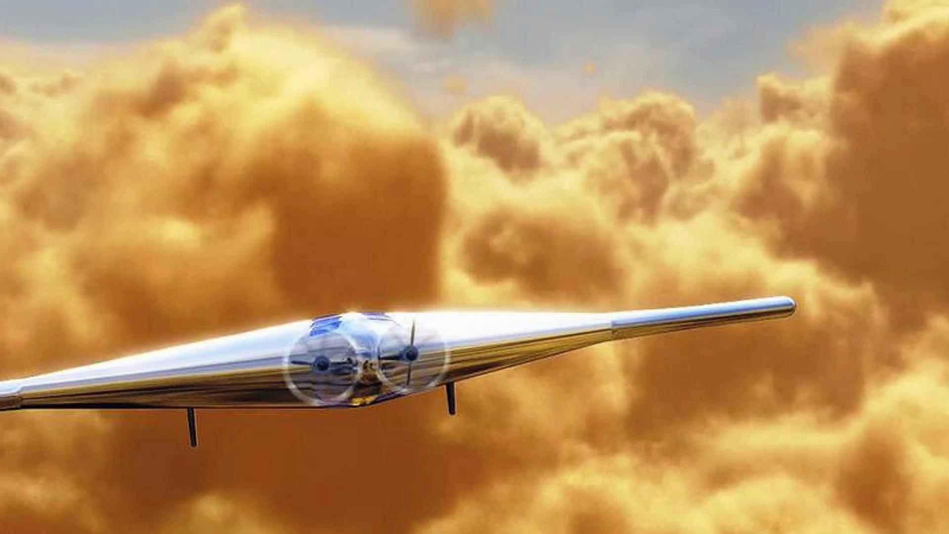 Diseñan un sorprendente avión inflable para volar en Venus