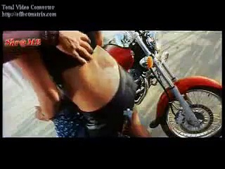 Indian girl rides an Eliminator motorcycle