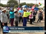 Perú: mineros inician huelga indefinida por mejoras laborales