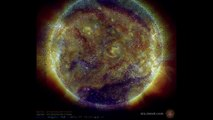 Is the Sun Going Dark?  Nasa Images Reveal TWO Giant Holes - One Covering  10% of the Solar Surface