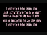 I BELIEVE IN A THING CALLED LOVE - THE DARKNESS LYRICS