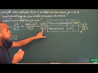 392 / Proportionnalité / Calcul de pourcentage (2)