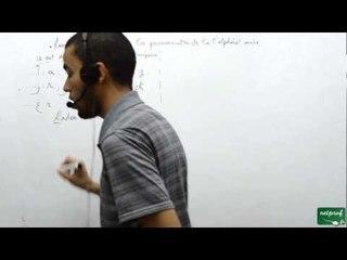 Langue arabe, remarque 1 sur la prononciation de l'alphabet arabe.
