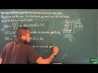399 / Proportionnalité / Calcul de pourcentage (9)