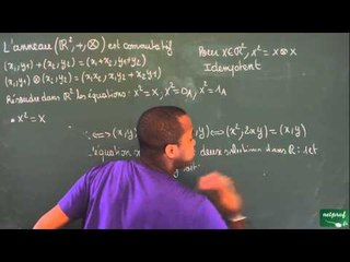 0164 / Structures algébriques / L'anneau (R²,+,x) (3)