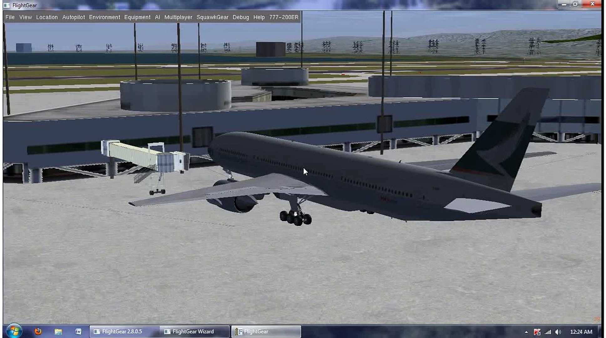 Boeing 777 - Animated Jetways at San Francisco International Airport in  FlightGear