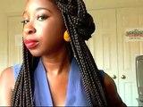 Ways to Style Long Box Braids/Solange Braids/Janet Jackson Braids