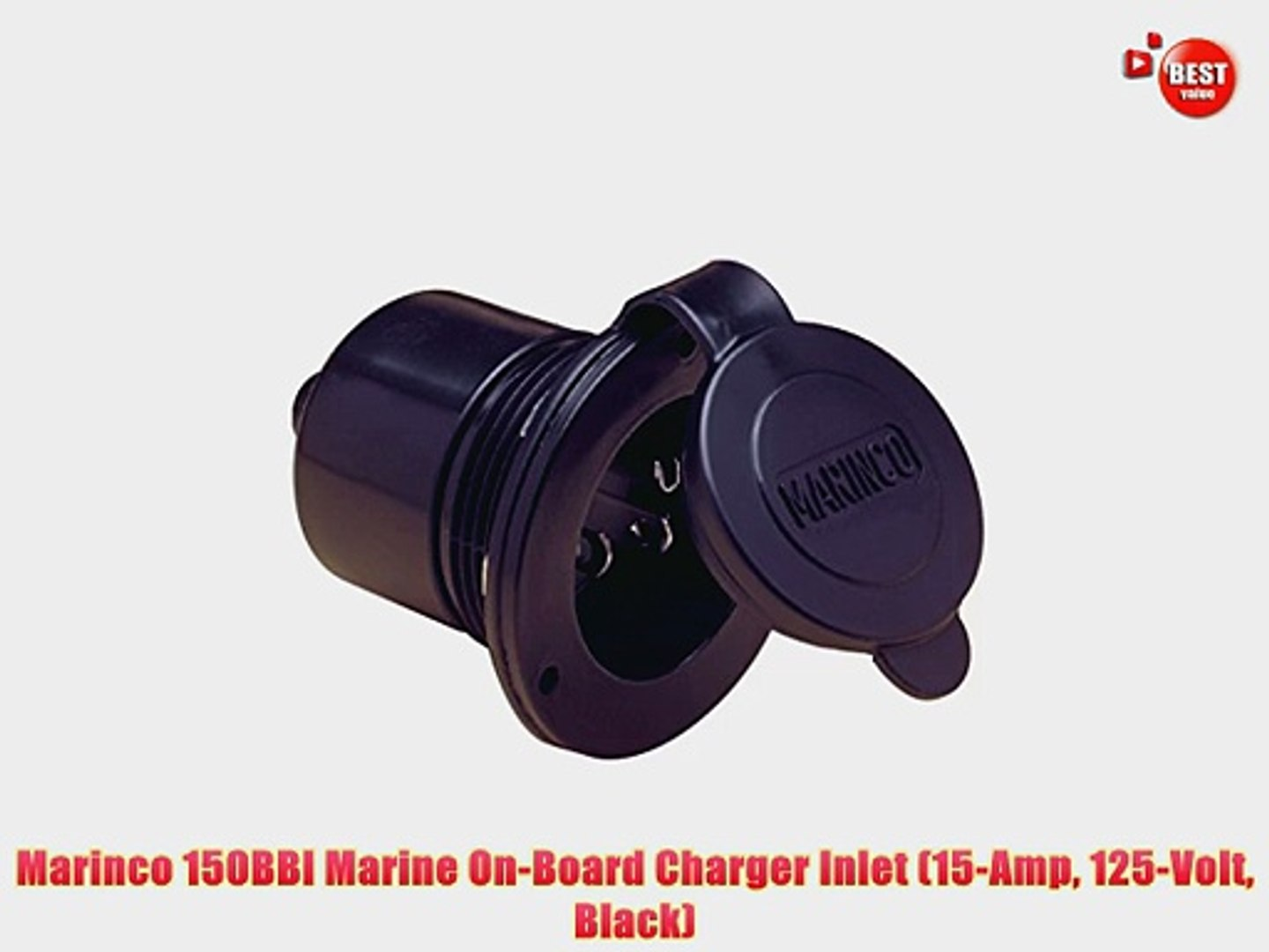 Marinco 150BBIW.RV Marinco On-Board Charger Inlet White 15 Amp