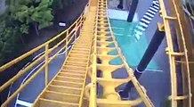 Titan Arrow Hyper Coaster Roller Coaster Front Seat POV Onride Space World Japan