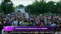 Demonstrație împotriva lui Orban. Sute de unguri au ieșit pe străzile Budapestei într-o demonstrație antiguvernamentală. Oamenii au criticat poziția premierului Viktor Orban care nu este de acord să primească în țară imigranţi.