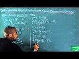 ACU / Inéquations - Systèmes d'équations / Résolution d'un système d'équation