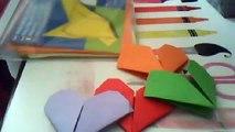 Origami:comment faire un petit et grand coeur accompagné de son petit frère