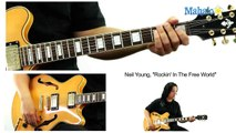 "How to Play ""Rockin' In The Free World"" by Neil Young on Guitar"
