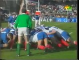 Rugby: 1997 European Nations Cup Final. Francia vs Italia.