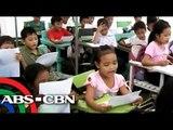 Mga bata sa Albay, pilit nag-aaral sa evacuation centers