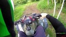 Quadbike fun | Wheelies, Drifting, etc | SlimstaRides on a Suzuki Ozark 250