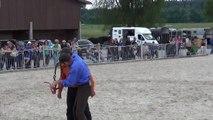 Dr Neu Haengscht - Horsemanship Sketch by Mikey & Wally