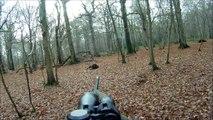 Chasse HD : Tirs de 2 sangliers - Battue de Sangliers - Caméra embarquée GoPro