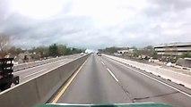 WOW Diesel Truck Blowing Engine on Interstate Big Rig
