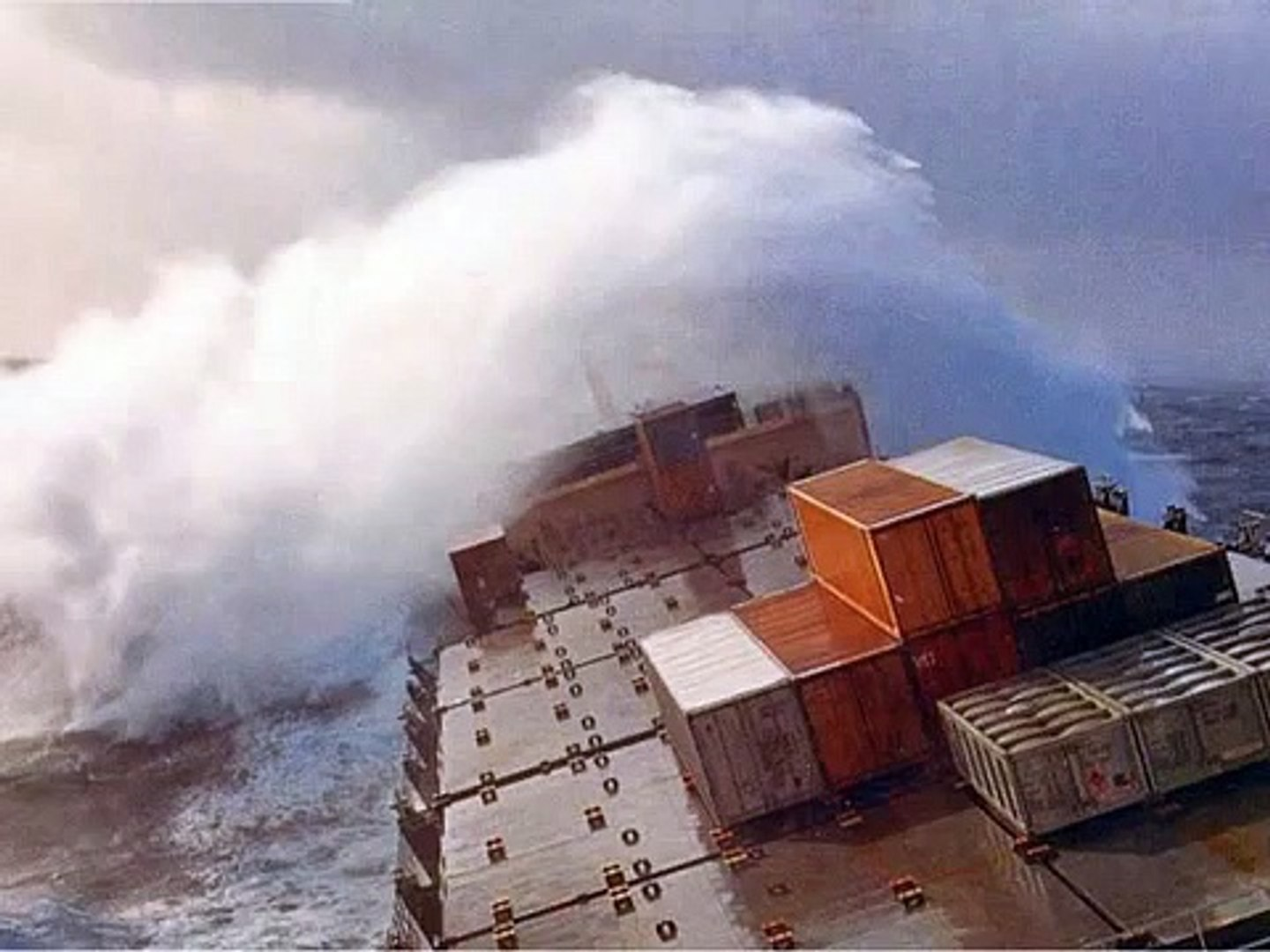 Cargo Ships In Rough Seas