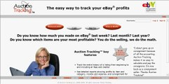 Ebay Sellers AuctionTracking.com How to Navigate and create Sales Reports