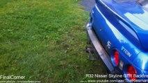 Best Nissan Skyline R32 R33 R34 engine exhaust sounds. Brutal backfire, drift, accelerations and rev