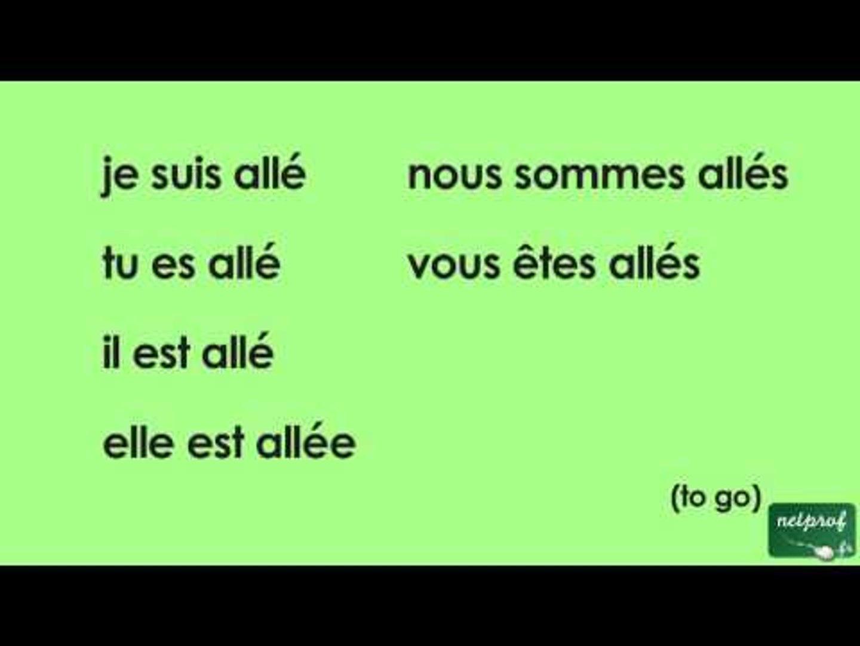 Conjugaison Du Verbe Aller Au Passe Compose De L Indicatif Video Dailymotion