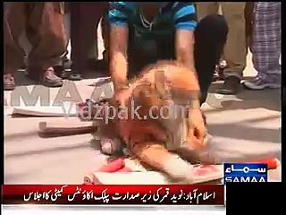 PML-N Workers burnt bat as protest against PTI in Multan by election