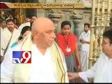 AP Dy CM Chinna Rajappa,Raghavendra Rao visits Tirumala