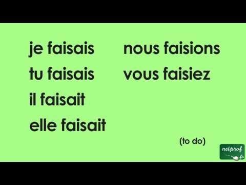 Conjugaison Du Verbe Faire A L Imparfait De L Indicatif Video Dailymotion