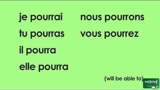 Conjugaison Du Verbe Pouvoir Au Futur Simple De L Indicatif Video Dailymotion