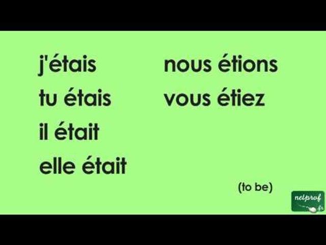Conjugaison Du Verbe Etre A L Imparfait De L Indicatif Video Dailymotion