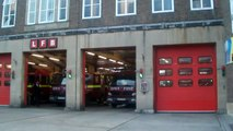 LONDON FIRE BRIGADE TURNOUT FROM SOHO FIRE STATION  - video