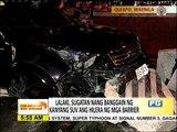 SUV bumangga sa concrete barrier, drayber nalingat ng mahulog ang cellphone