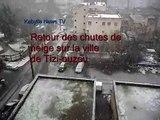 8 février 2012: chutes de neige à Tizi-ouzou et dans les villages de Kabylie
